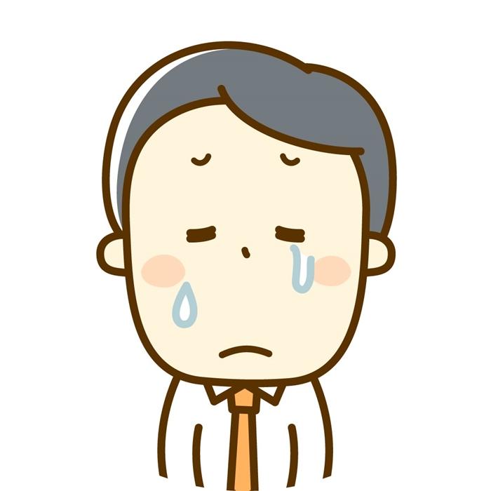 男性-泣き