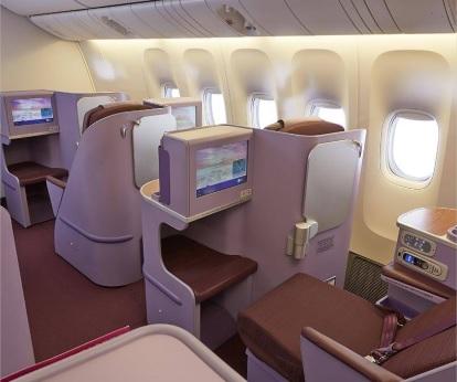 TG644 タイ航空A359のビジネスクラスもフルフラットシート。ANAのB789とどっちが快適?