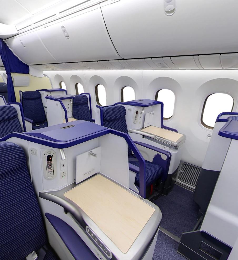 ANA深夜便NH877で羽田からバンコクへ。B789ビジネスクラスのフルフラットシートは快適でした。