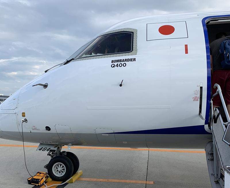 NH496搭乗記。セントレアから成田へボンバルディアDHC8で向かいました。
